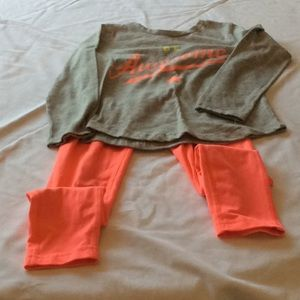 Shirt and pants set.